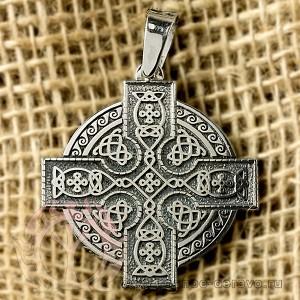 Большой кельтский крест из серебра